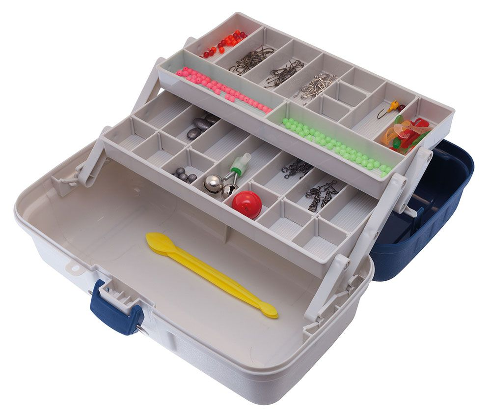 Jarvis Walker 2-Tray Tackle Box with 300 Piece Complete Tackle Kit