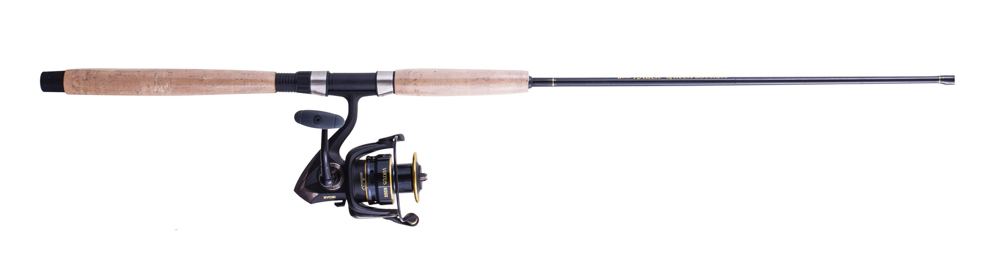 Jarvis Walker Solid Fibreglass Black Queen 8ft Rod and Ryobi Virtus 5000 Reel Combo
