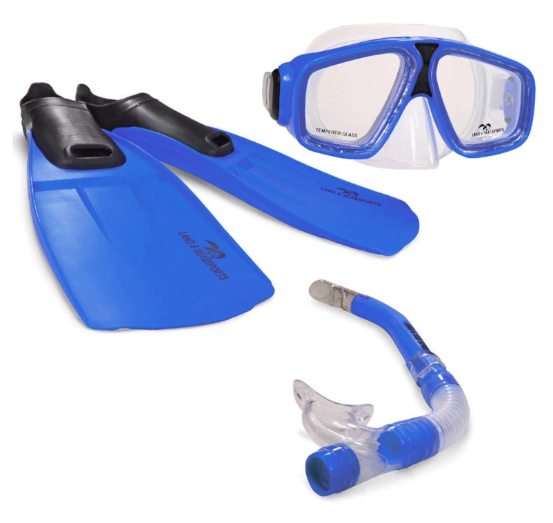 Land and Sea Adventurer Silicone MSF Mask Snorkel Fin Set