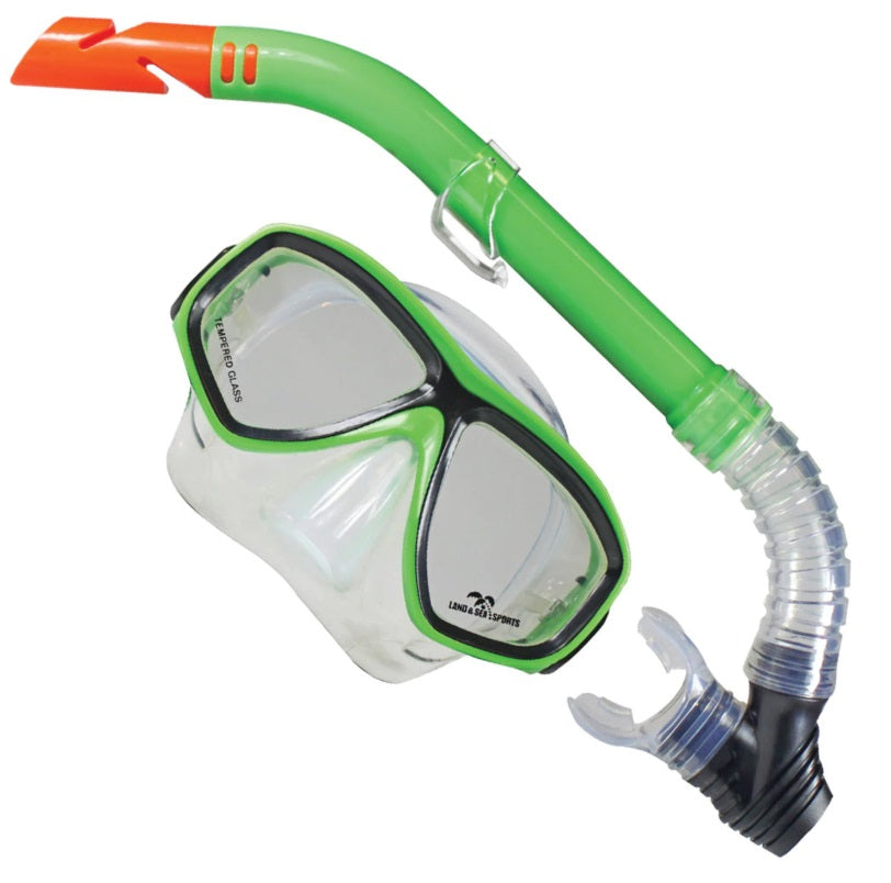 Land and Sea Clearwater Silicone Mask and Snorkel Set