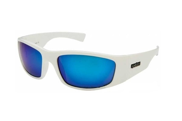 Spotters Polarised Sunglasses White Coyote Frames Ice Blue Lenses