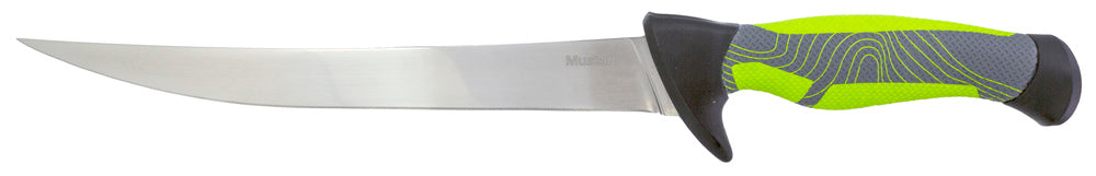 Mustad Green 9 Inch Fillet Knife - Mirror Polish