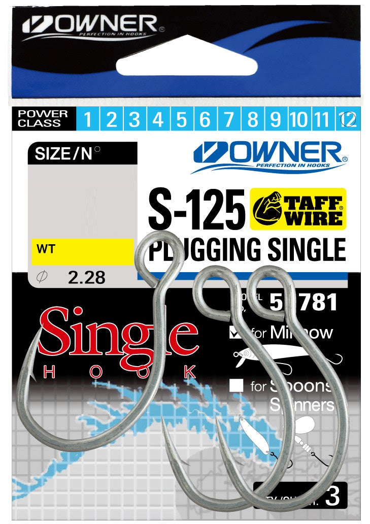 Owner S-125 Plugging Inline Single Hook