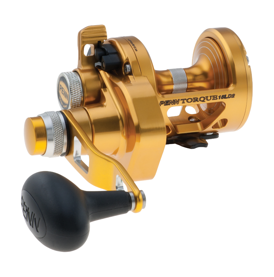 Penn Torque Gold Lever Drag 2 Speed Overhead Reel