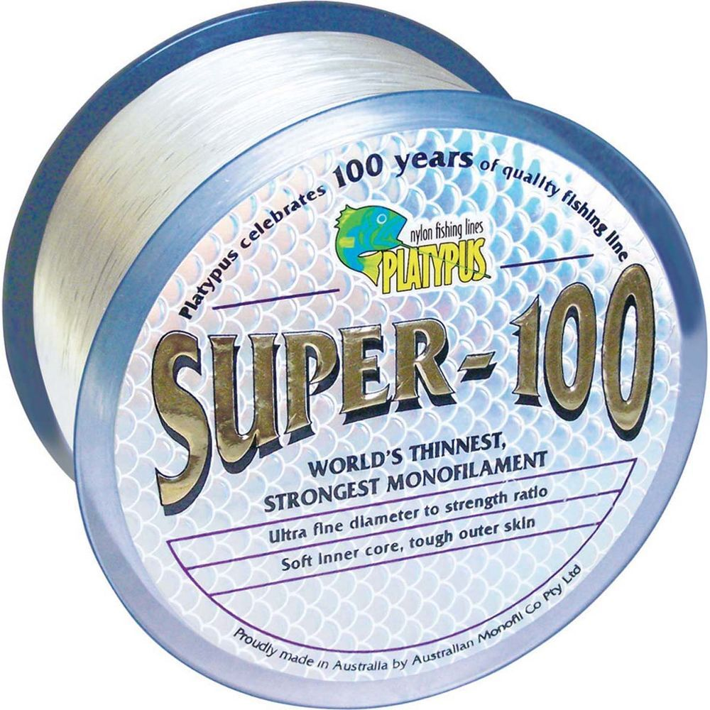 Platypus Super-100 Clear 1000m Monofilament Fishing Line
