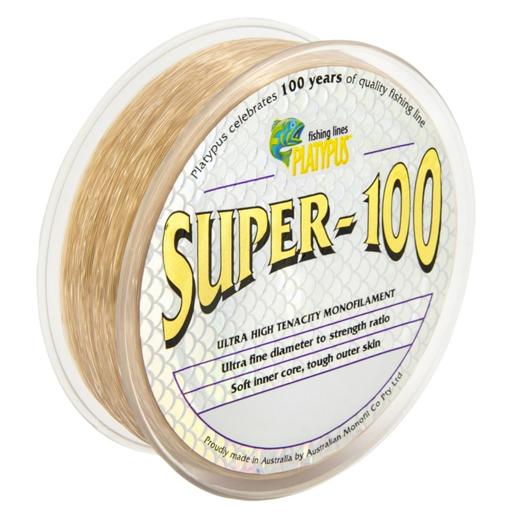 Platypus Super-100 Brown 500m Monofilament Fishing Line