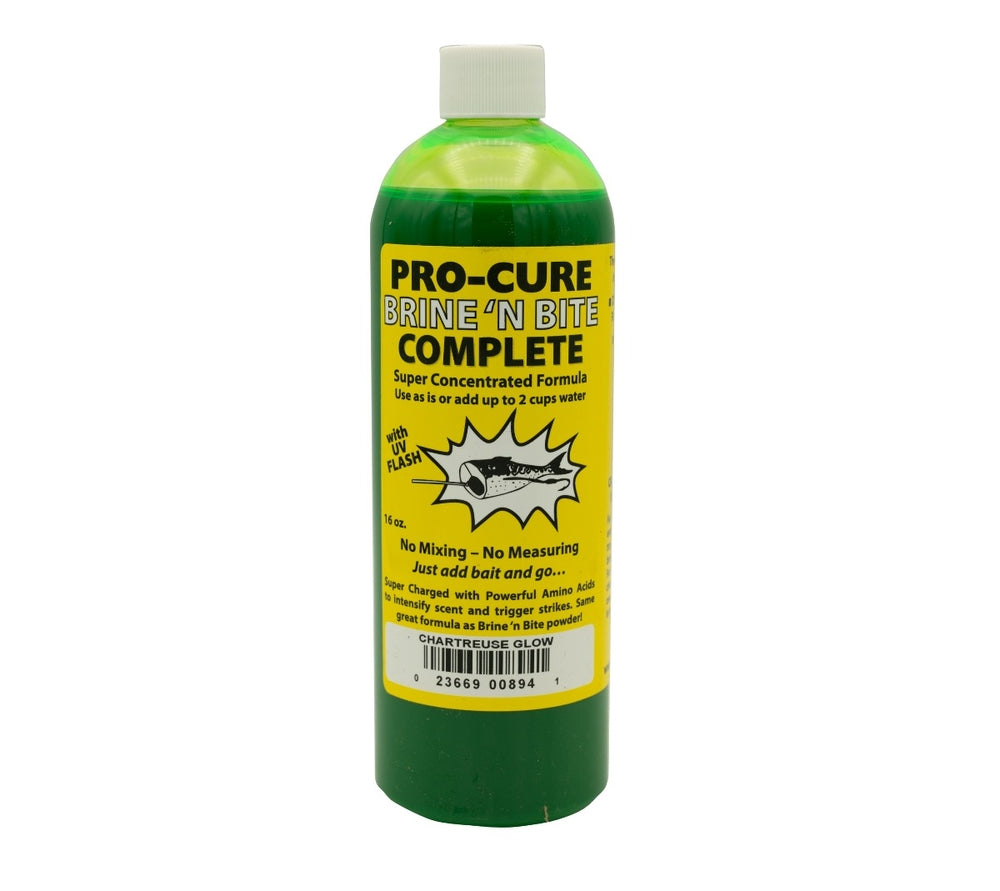 Pro-Cure Brine n Bite Bait Complete Super Concentrated Enhancement Liquid Fluid Formula