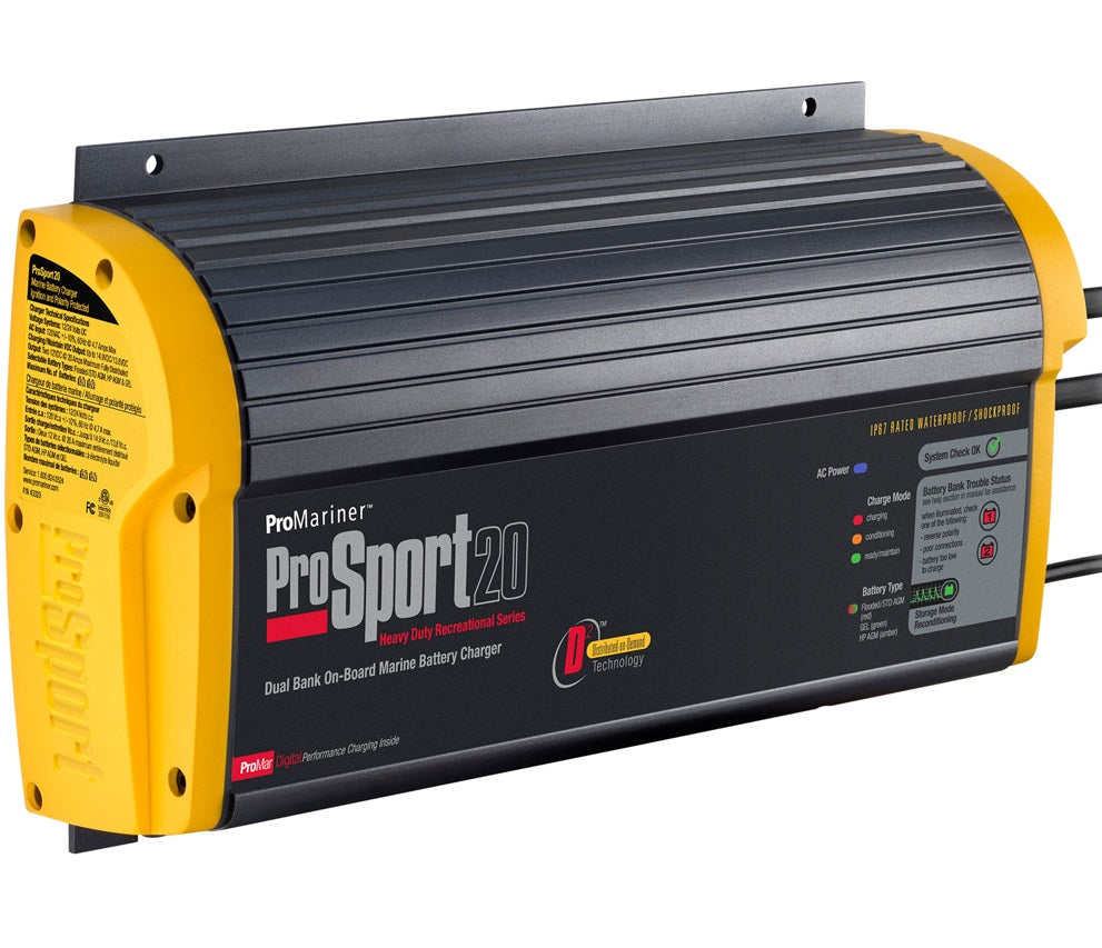 Pro Sport 20 Amp Dual Bank Battery Charger - 114594