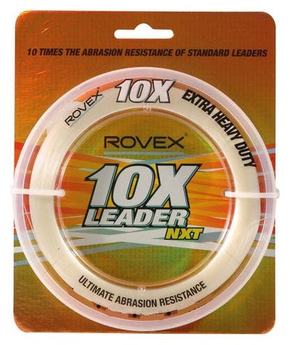 Rovex 10X Tough Clear Mono Monofilament Large Strain Leader 100m