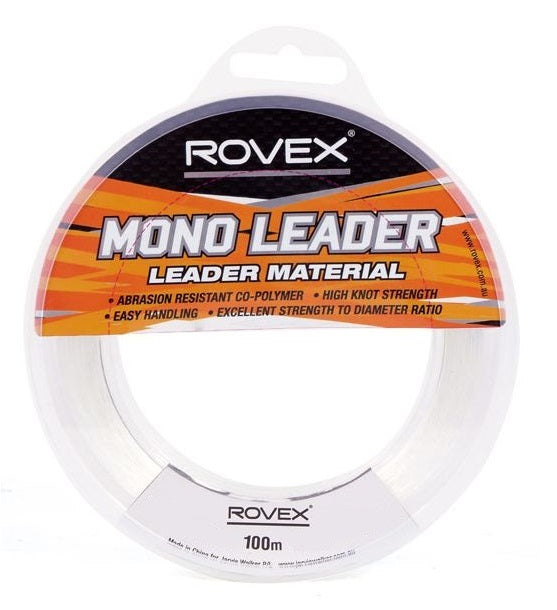 Rovex Copolymer Tough Clear Mono Monofilament Large Strain Leader 100m
