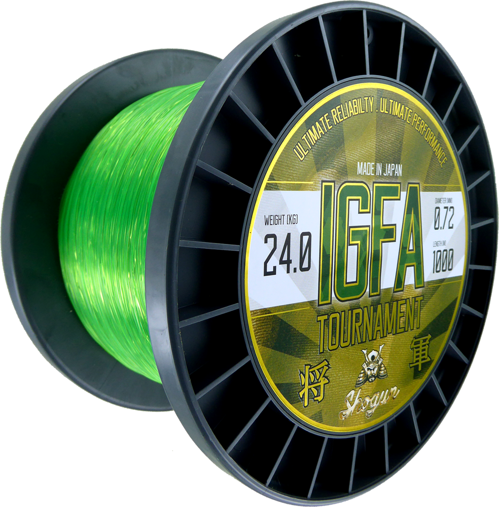 Shogun IGFA Tournament 1000m Monofilament Fluoro Green Fishing Line