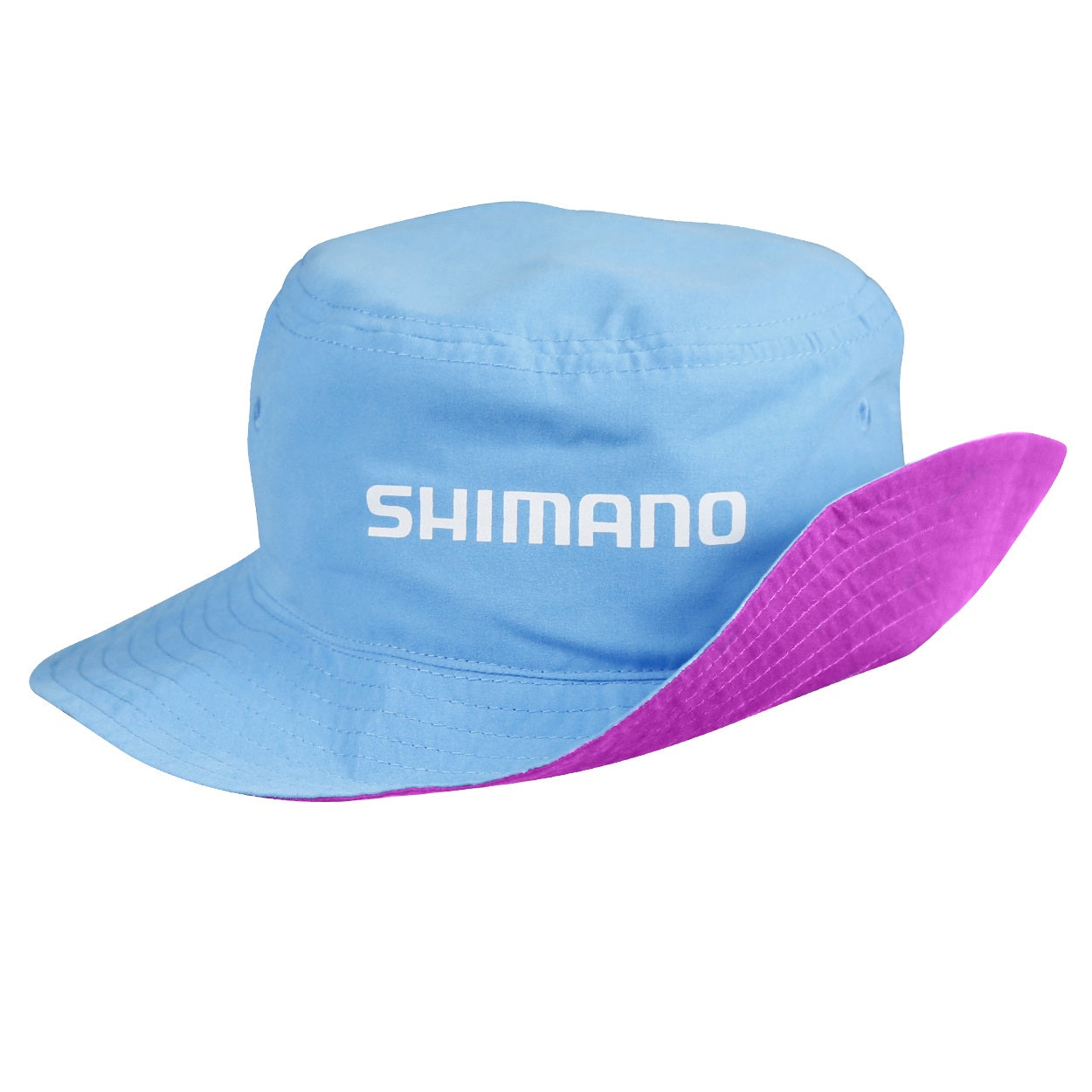 Shimano Kids Reversible Pink Cyan Bucket Hat