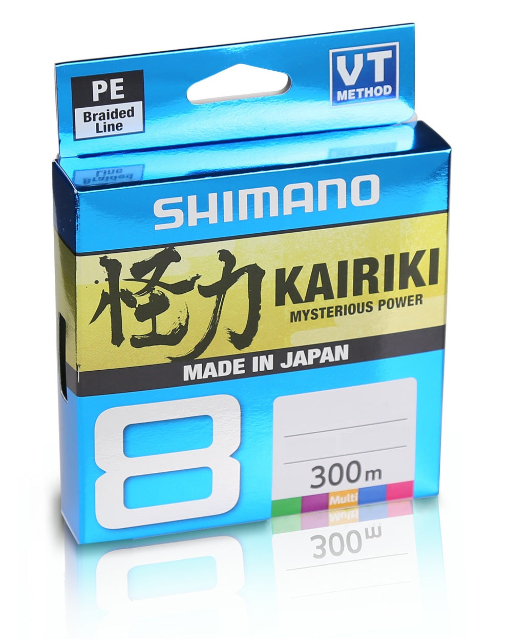 Shimano Kairiki 8 Multi Colour Braided Fishing Line 300m