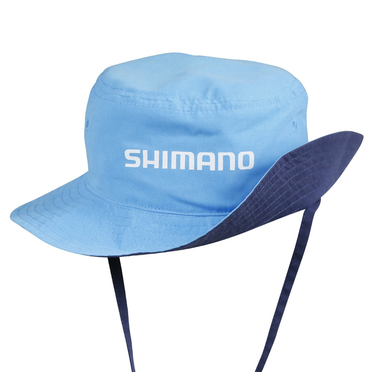 Shimano Kids Reversible Bucket Hat - Navy Cyan