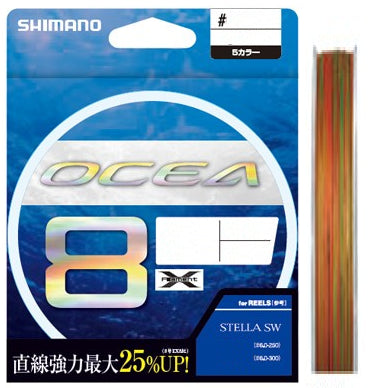 Shimano OCEA 8 Multi Coloured Braided Fishing Line