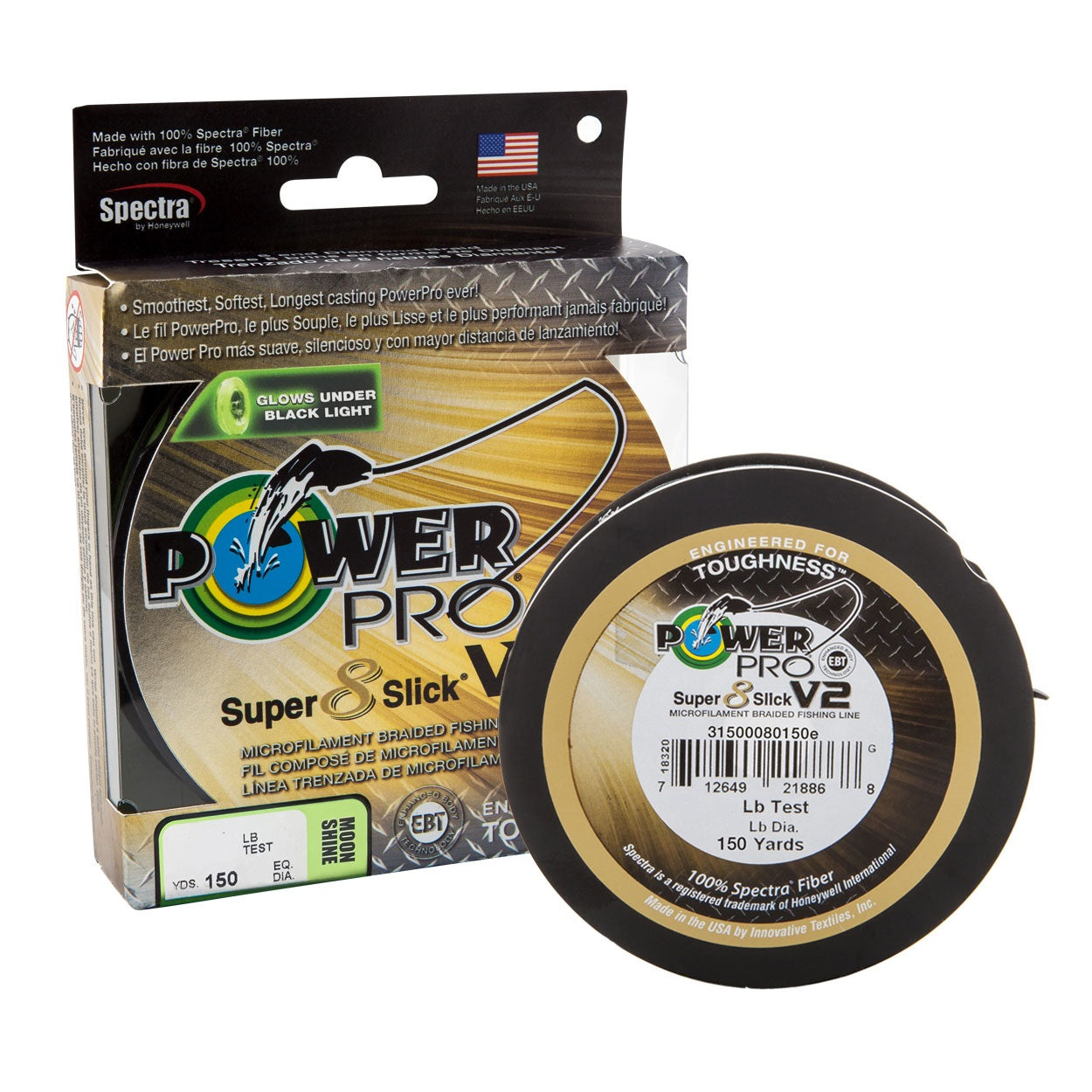 Shimano Power Pro Super Slick V2 Moonshine Braid Line 150m