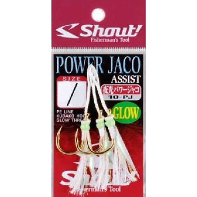 Shout 10-PJ Powerful Jaco Glow Rigged Assist Hook