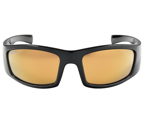Spotters Coyote+ Gloss Black Mens Performance Polarised Sunglasses