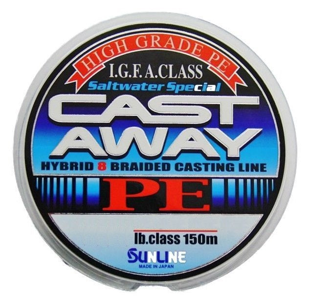 Sunline Cast Away PE 150m Braided Fishing Line