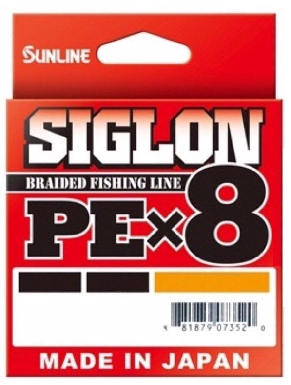 Sunline Siglon PEx8 Braided Fishing Line Hi-Vis Orange 150m