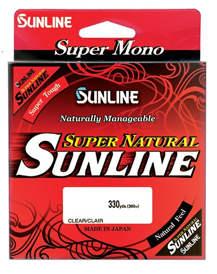 Sunline Super Natural 300m Clear Monofilament Line