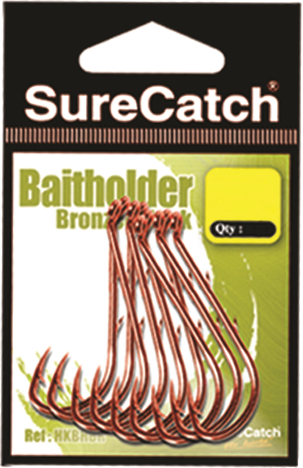 Sure Catch Bronzed Baitholder Hook
