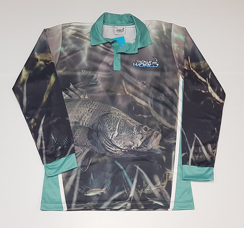 Tackleworld Barramundi Long Sleeve Fishing Shirt Adult