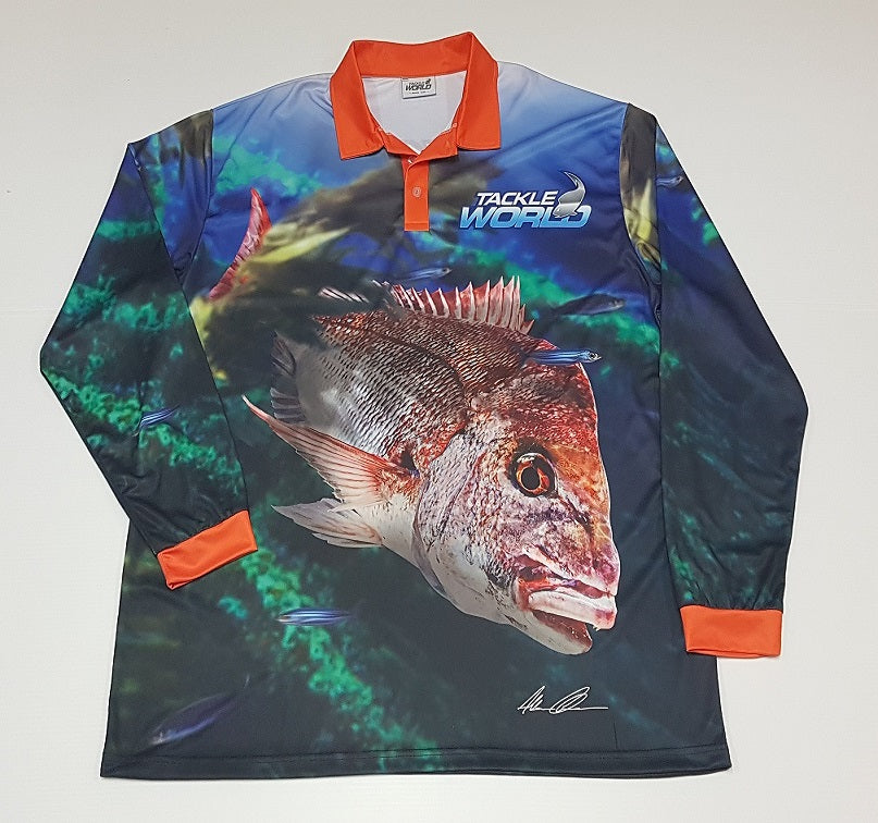 Tackleworld Snapper Long Sleeve Fishing Shirt Adult