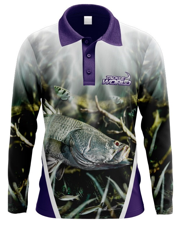 Tackle World Barra Girls Long Sleeve Fishing Shirt Jersey