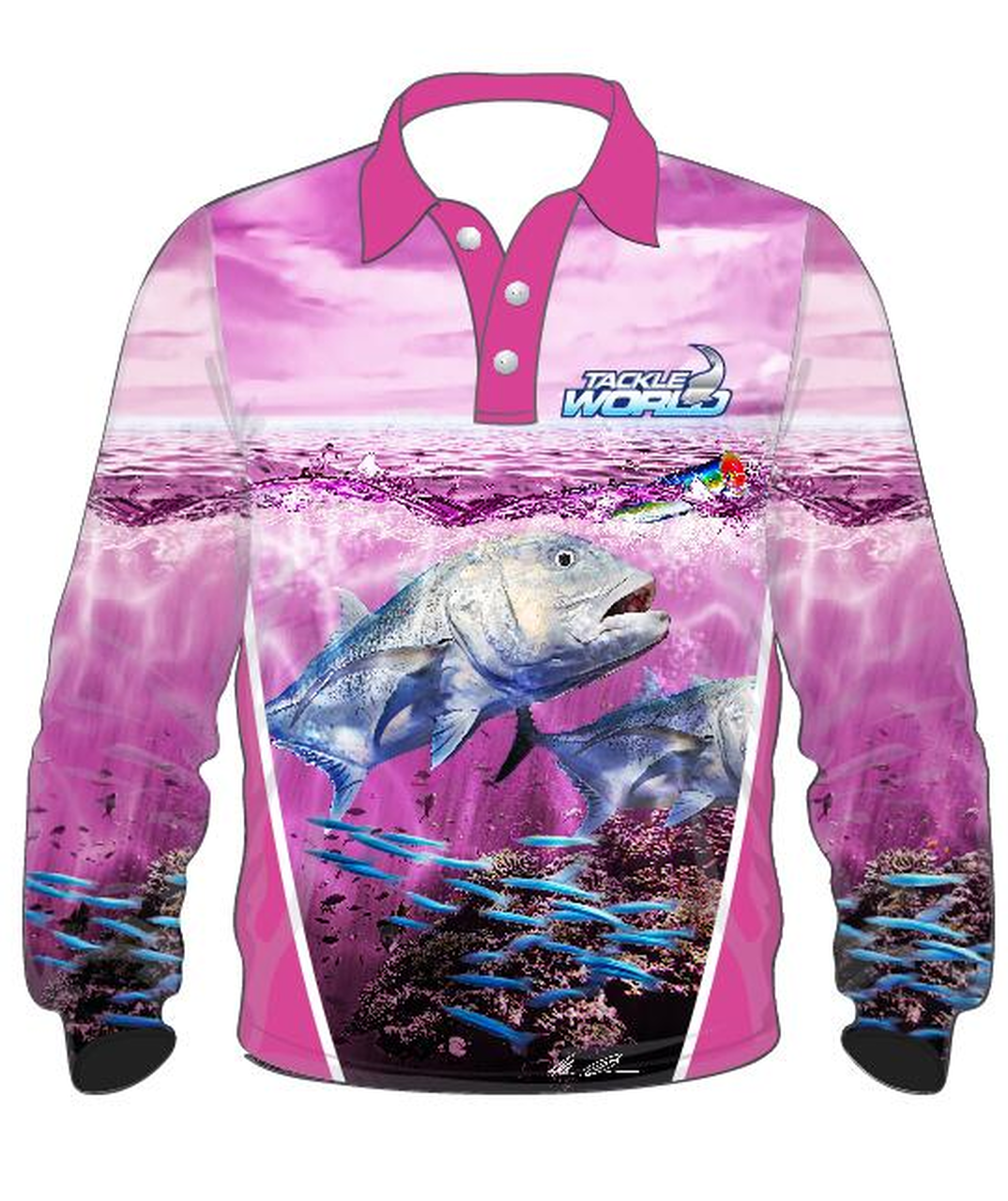 Tackle World GT Girls Long Sleeve Fishing Shirt Jersey