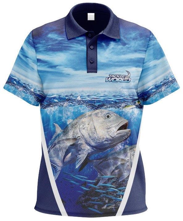 Tackle World GT Adult Short Sleeve Fishing Shirt Jersey