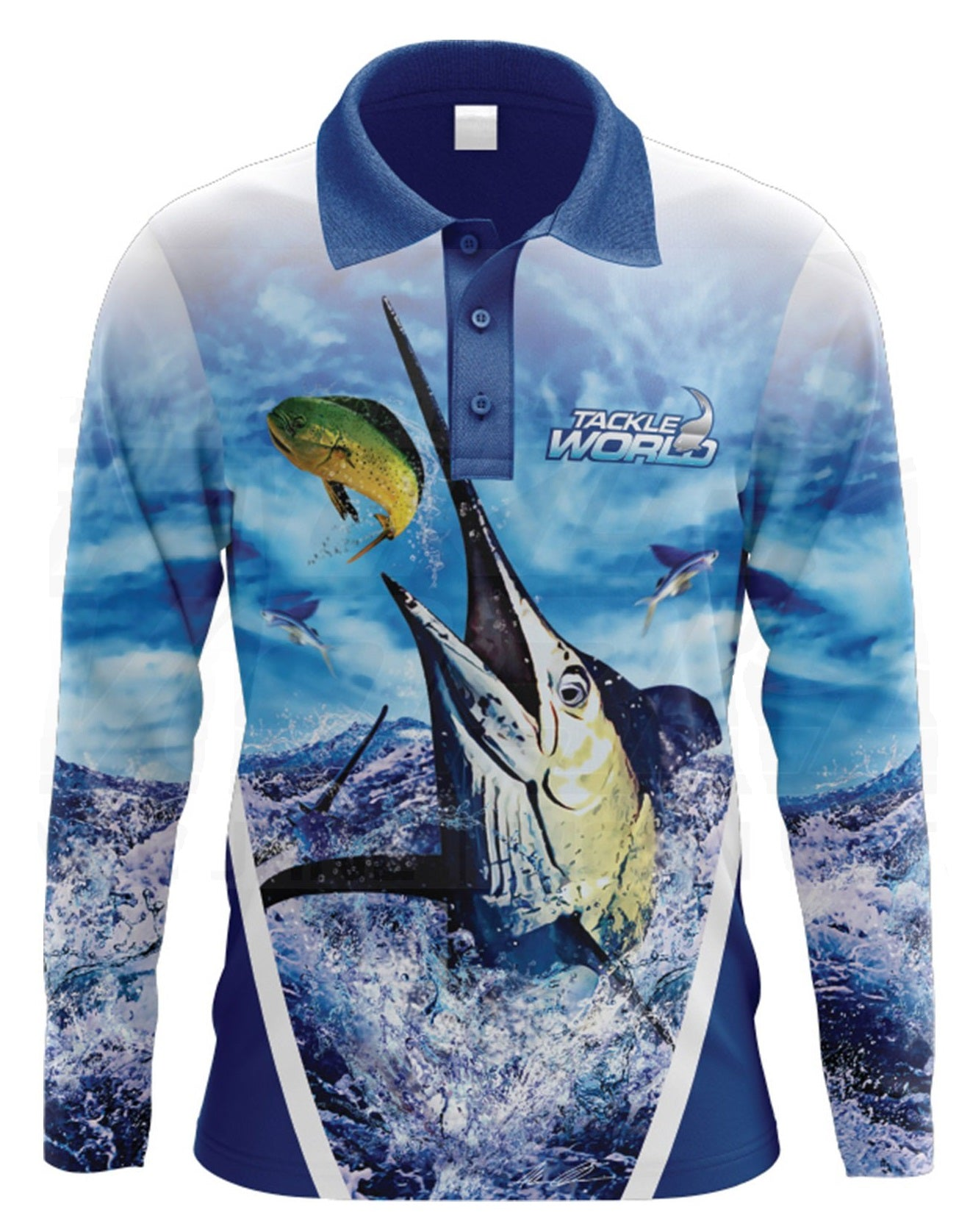Tackle World Marlin Adult Long Sleeve Fishing Shirt Jersey