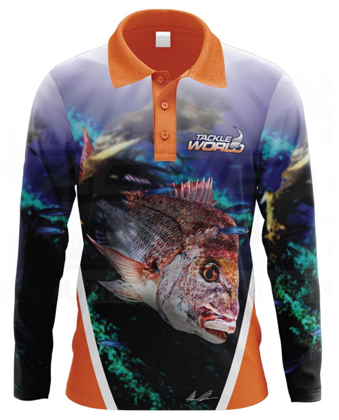Tackle World Snapper Kids Long Sleeve Fishing Shirt Jersey