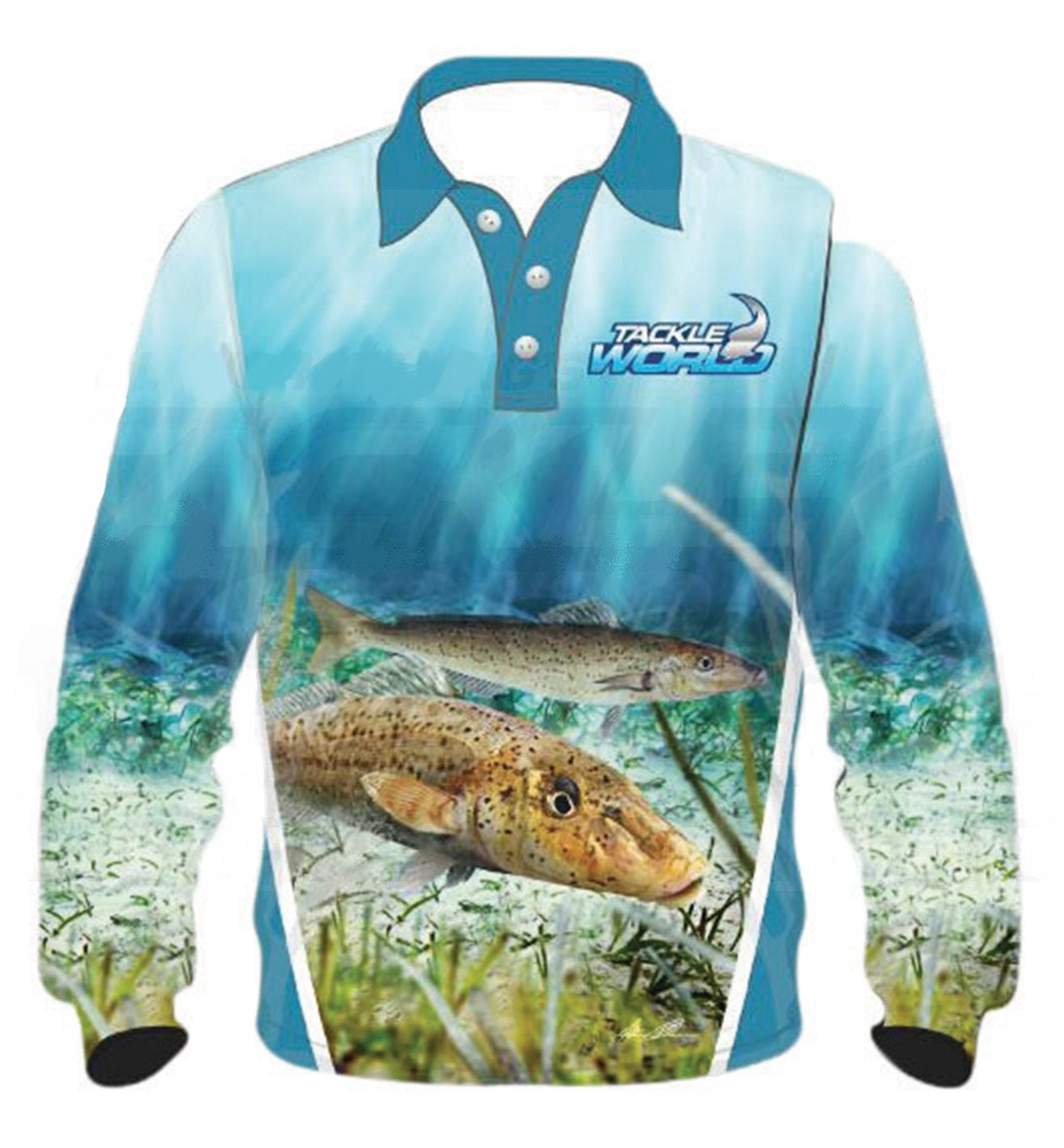 Tackle World Whiting Kids Long Sleeve Fishing Shirt Jersey