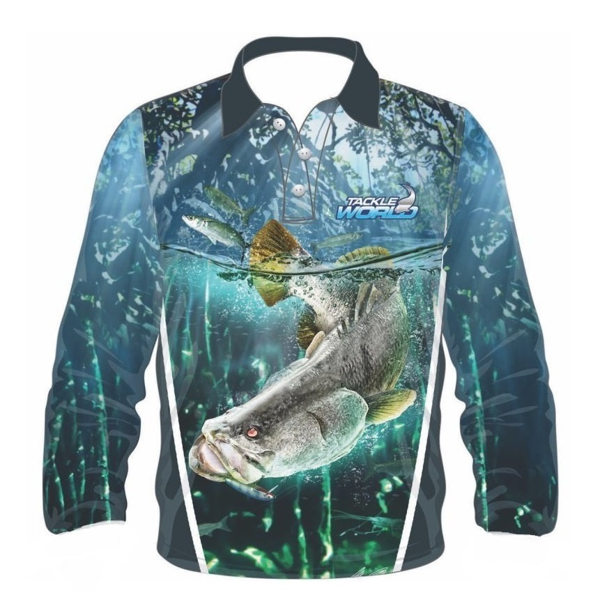Tackle World Barra Kids Long Sleeve Fishing Shirt