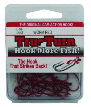 Tru Turn 063 Red Worm Long Shank Hook