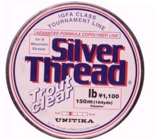 Unitika Silver Thread Trout Clear Mono Fishing Line 150m