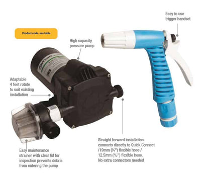 Whale WD1815 Pump and Gun Washdown Kit - 12V