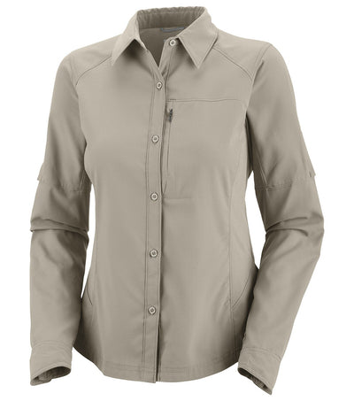 Columbia Silver Ridge Long Sleeve Womens Shirt Fossil