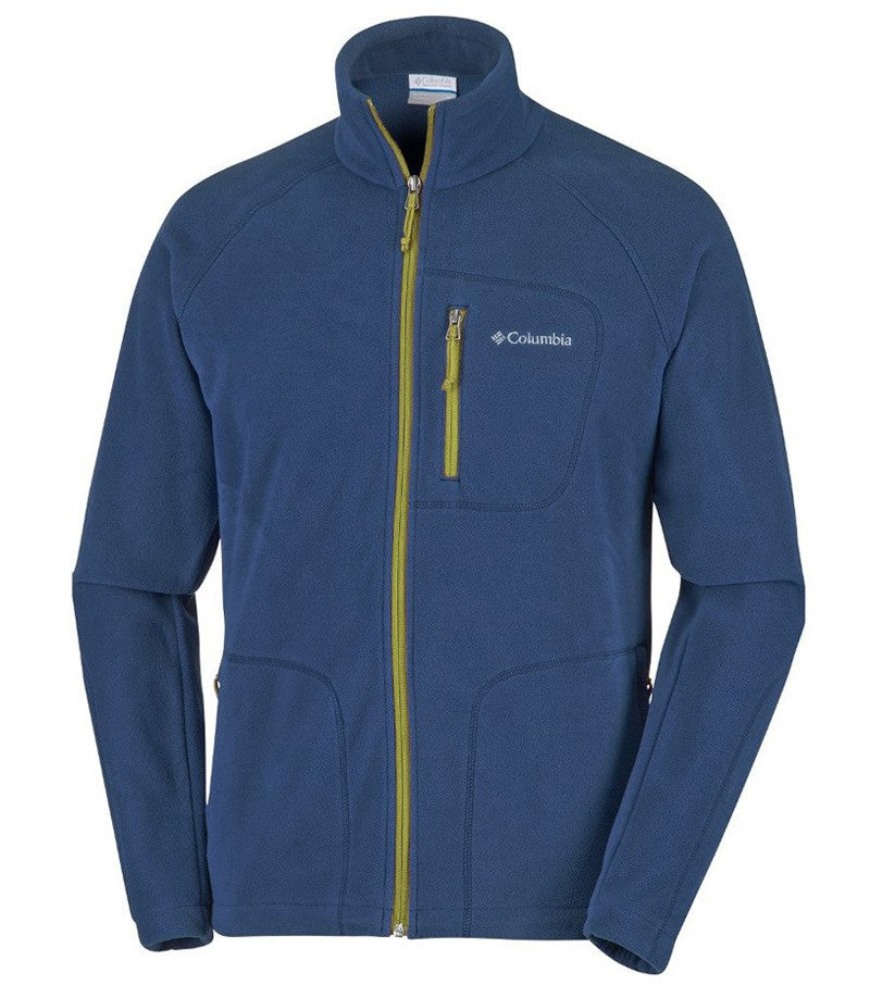Columbia Fast Trek II Full Zip Mens Fleece Jacket Navy Moss