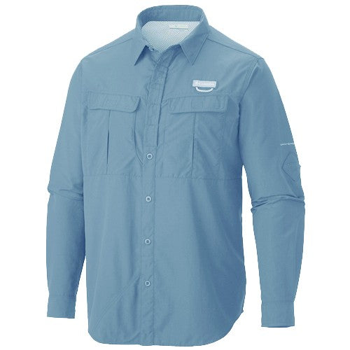Columbia Cascades Explorer Long Sleeve Mens Shirt Steel