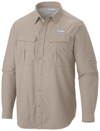 Columbia Cascades Explorer Long Sleeve Mens Shirt Fossil