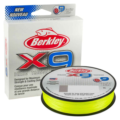 Berkley X9 Braided Fishing Line Flame Green 150m