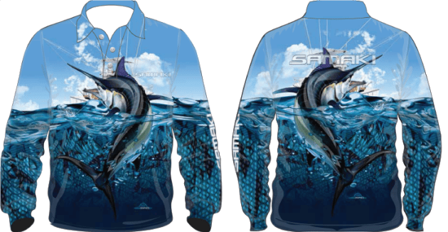 Samaki Black Marlin Shirt - Kids