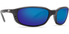 Costa Del Mar Brine Black Frame Polarised Sunglasses - Blue Mirror Lense 400G