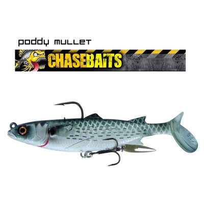 Chasebaits Poddy Mullet 125mm Soft Plastic Lure