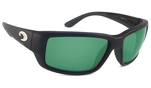 Costa Del Mar Fantail Black Frame Polarised Sunglasses - Green Mirror Lense 400G