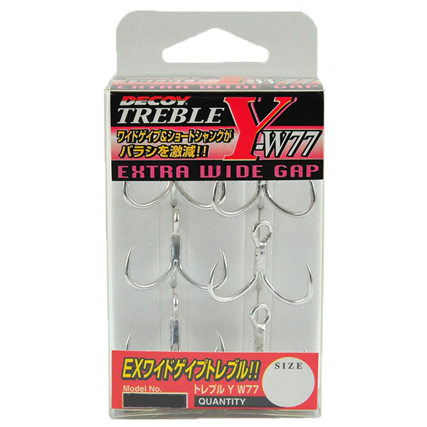 Decoy Y-W77 Extra Wide Gap Treble Hook