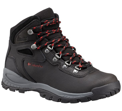 Columbia Newton Ridge Plus Womens Hiking Boot Black Poppy Red