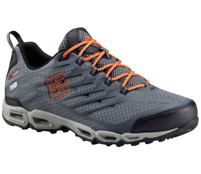 Columbia Ventrailia II Outdry Mens Hiking Shoe Titanium Grey Steel Heatwave